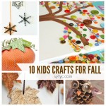 10 Kids Crafts for Fall Square