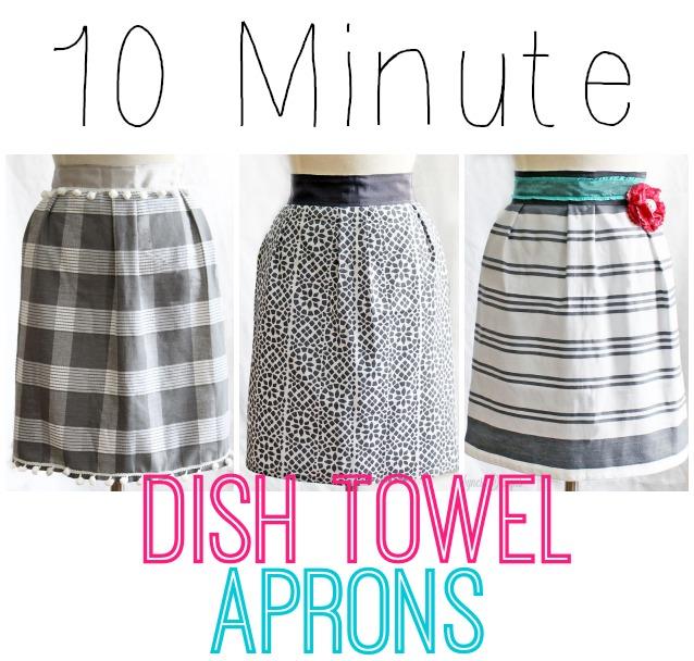 10 minute dish towel apron