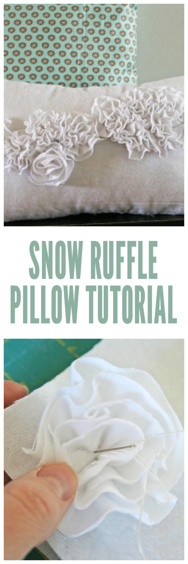 Ruffle Pillow Tutorial #sewing #ruffle #rufflepillow