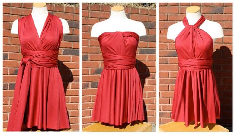 Little Red Infinity Dress Tutorial
