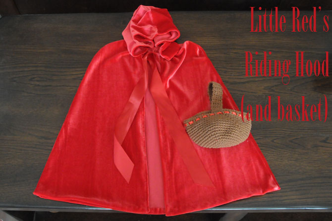 Little Red Riding Hood Cape and Basket