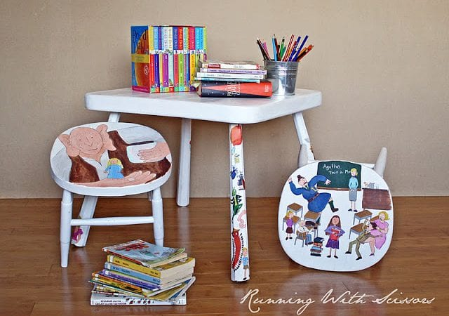 Roald Dahl Table and Stools