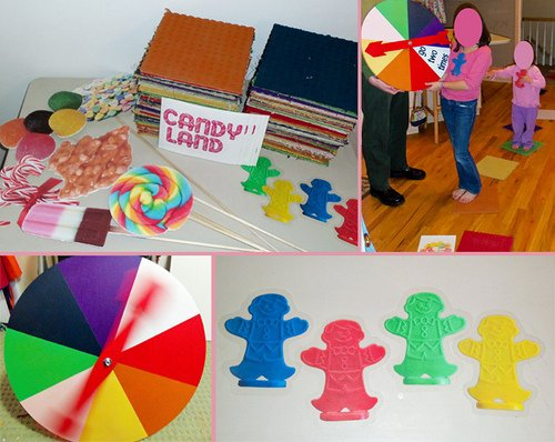 full size candy land game gingerbread men