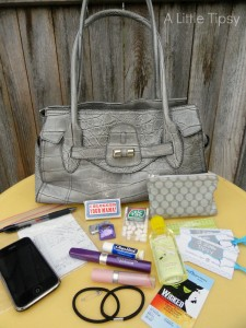 What's in My Handbag – A Little Tipsy