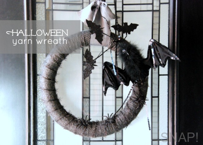 Yarn Halloween Wreath