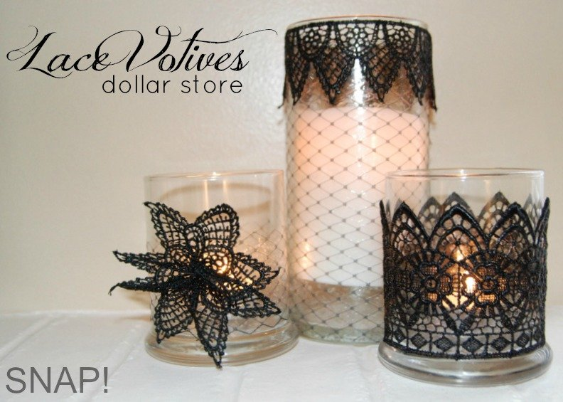 $3 Simple DIY Lace Votives
