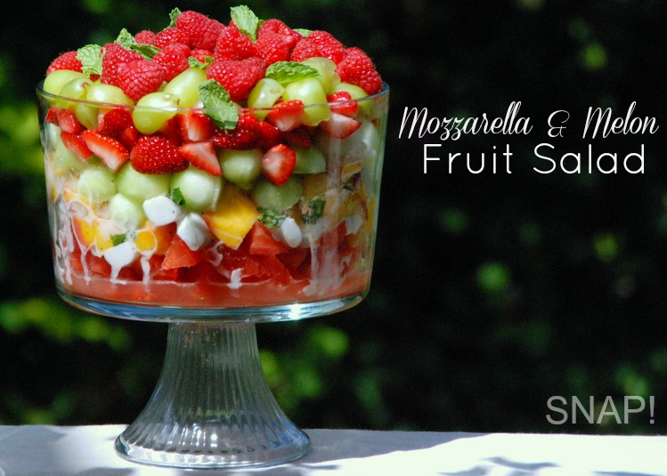 Mozzarella Melon Fruit Salad Recipe