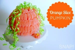 Orange Slice Pumpkin Centerpiece