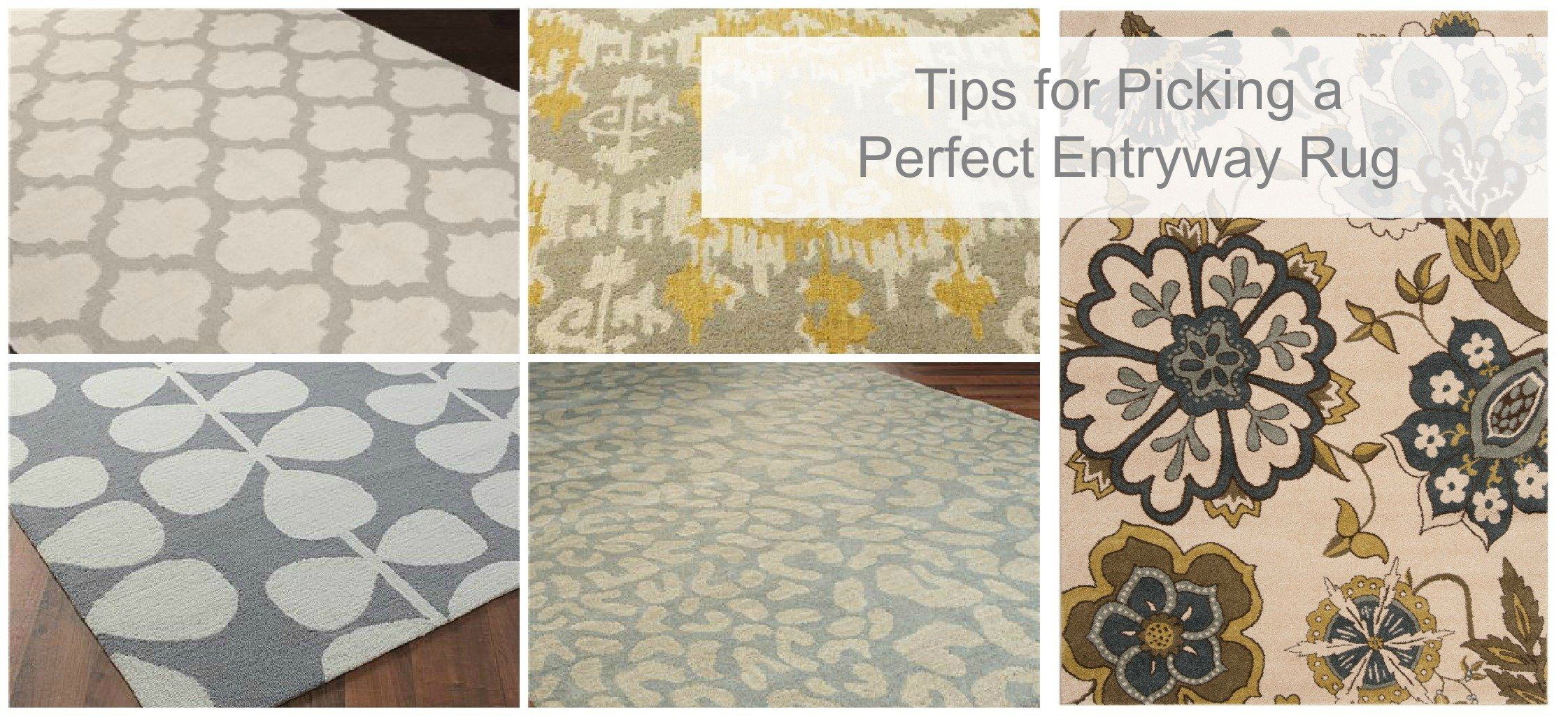 How to pick the perfect entryway rug tauni co for Choosing a rug color