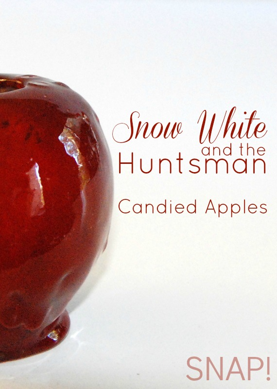 Easy-to-make Snow White Cinnamon Candied Apples #Halloween #candyapples #caramelapple