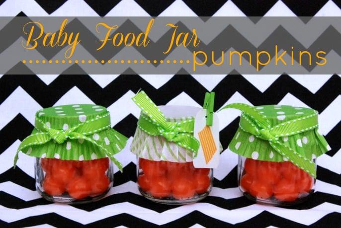Baby Food Jar Pumpkins