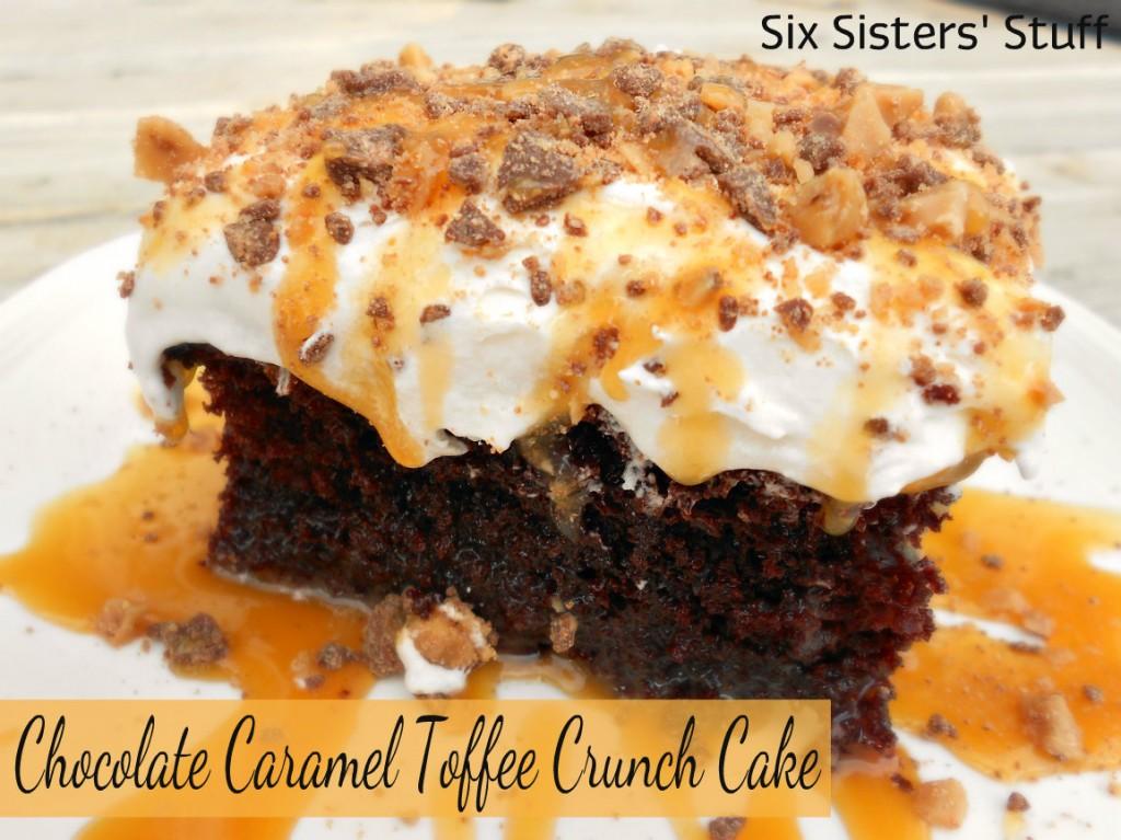 Chocolate Caramel Toffee Crunch Cake recipe
