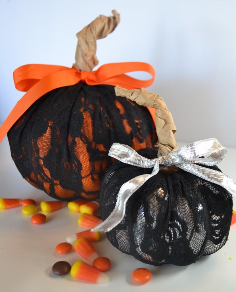DIY Lace Pumpkins