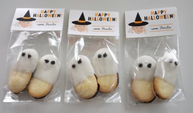 Ghost cookies Halloween snack