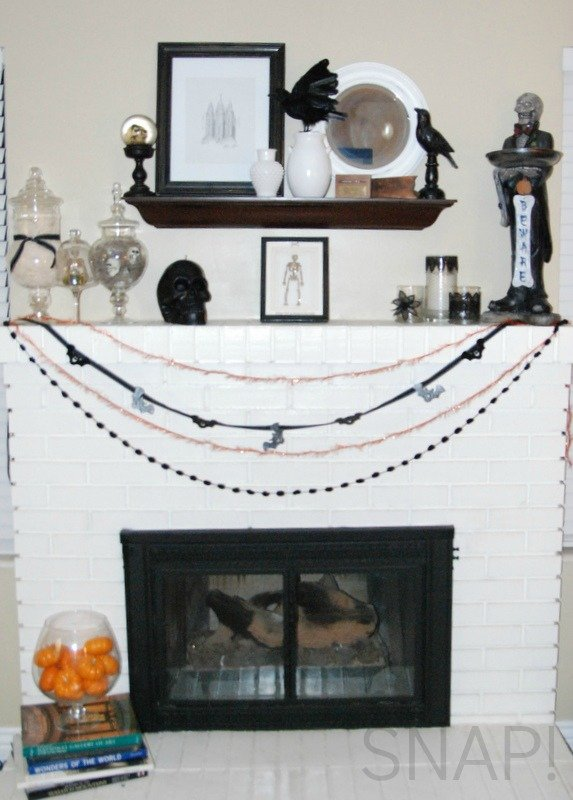 Halloween Mantel decor