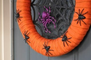 Halloween Spider Wreath via Just Us Four