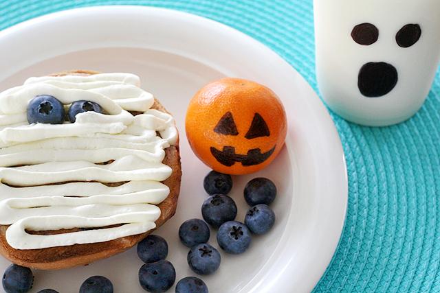 Healthy Halloween breakfast