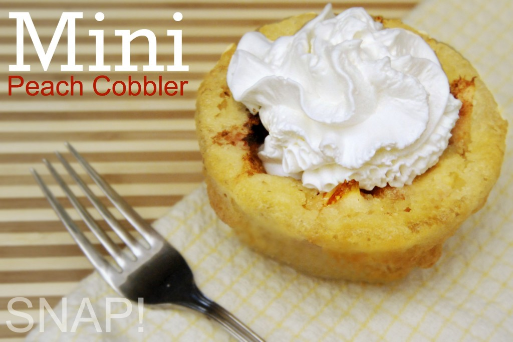 Mini Peach Cobbler
