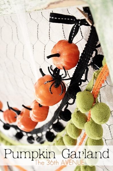 Pumpkin garland 36th avenue
