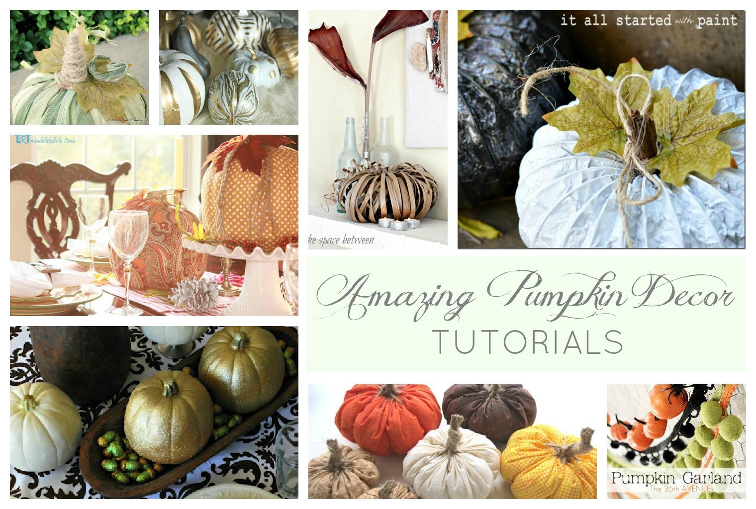Nine Amazing Pumpkin Decor Ideas