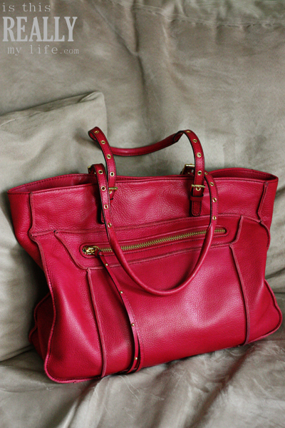 Steven by Steve Madden red leather handbag
