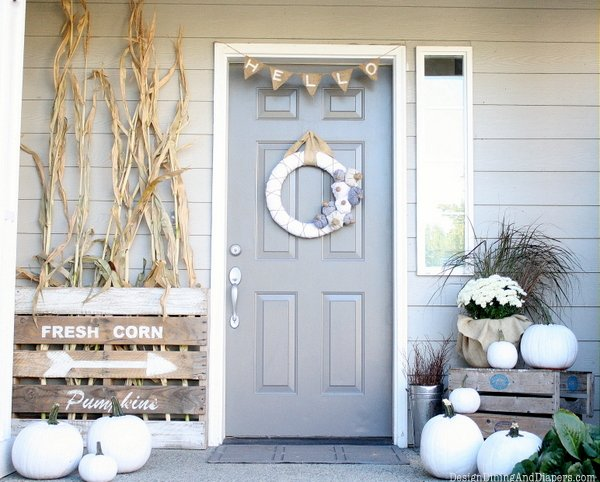 Fall porch design dining and diapers