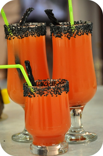 orange Halloween drink