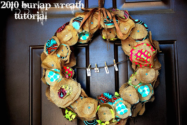 Tatertots and Jello Burlap wreath