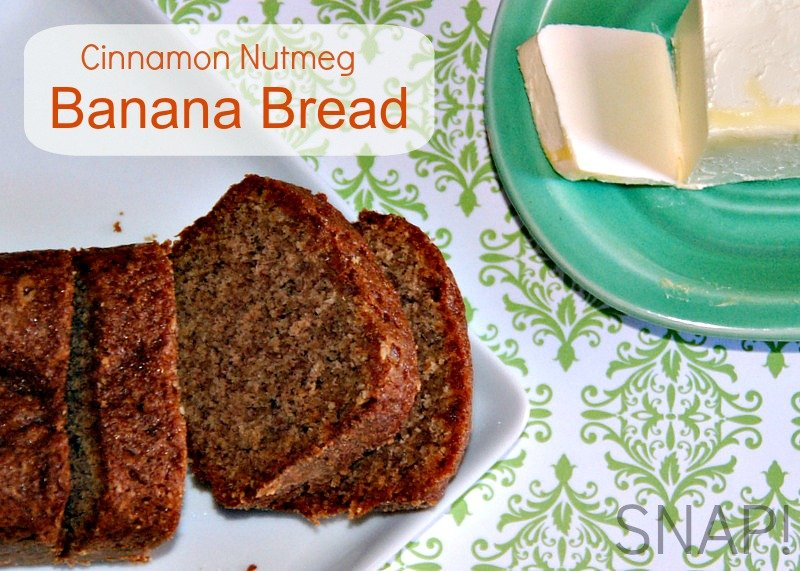Fall-tastic Cinnamon Nutmeg Banana Bread Recipe