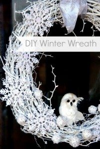 DIY White Winter Wreath via SNAP