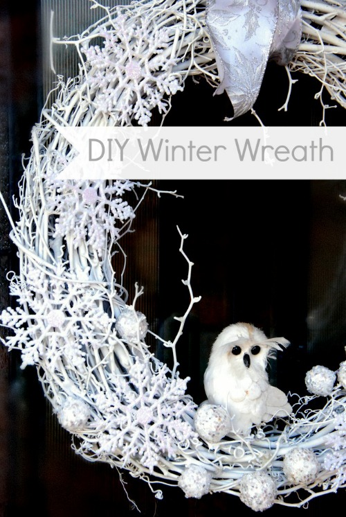 Diy White Winter Wreath Tauni Co