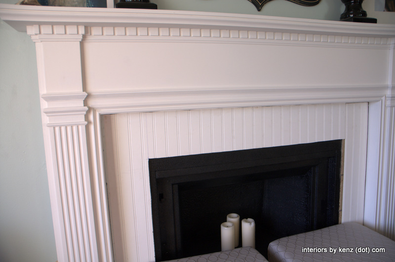Fireplace update via Interiors by Kenz