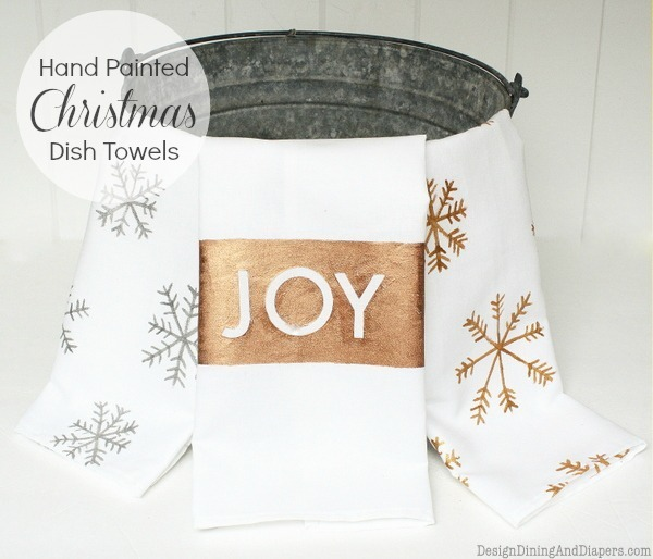 DIY Christmas towels