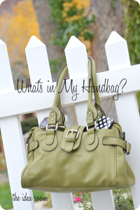 What's in My Handbag: The Idea Room