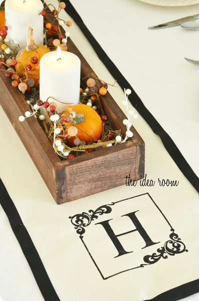 DIY Monogrammed Table Runner
