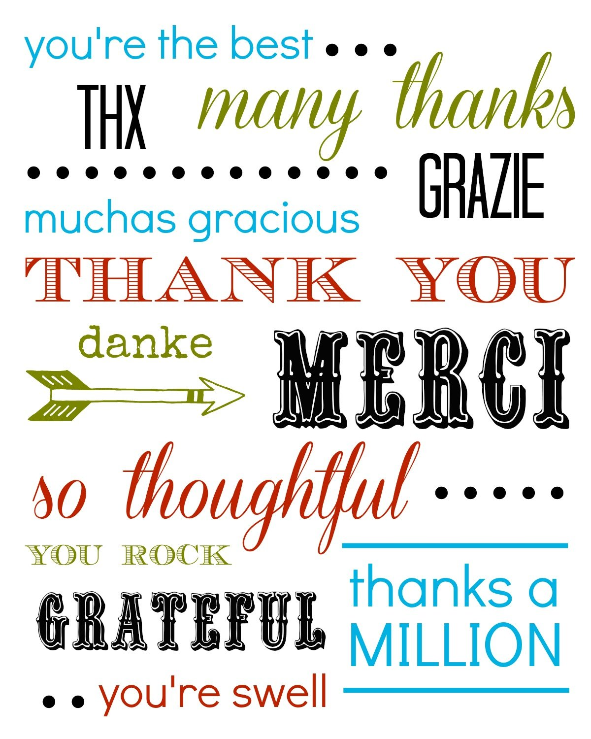 Free Printable: Thank You Card