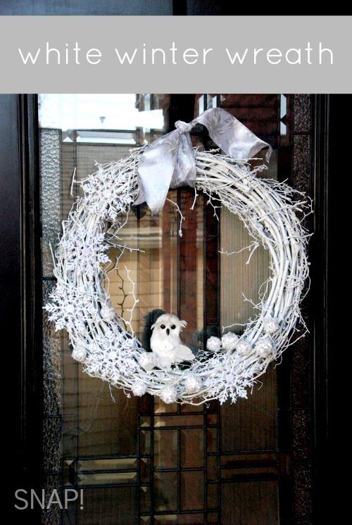 White Winter Wreath via SNAP