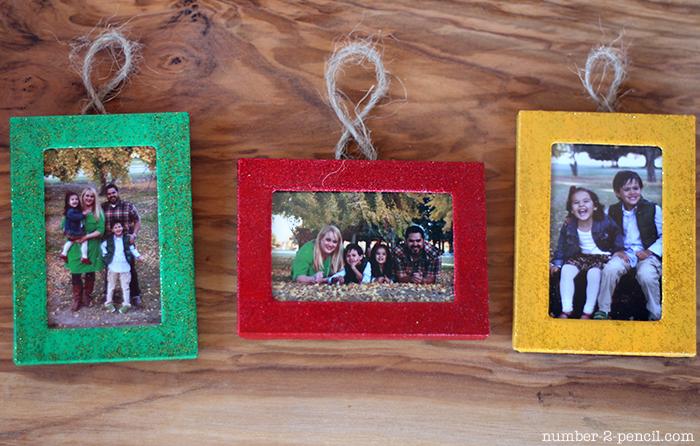family frame DIY christmas ornaments via no 2 pencil