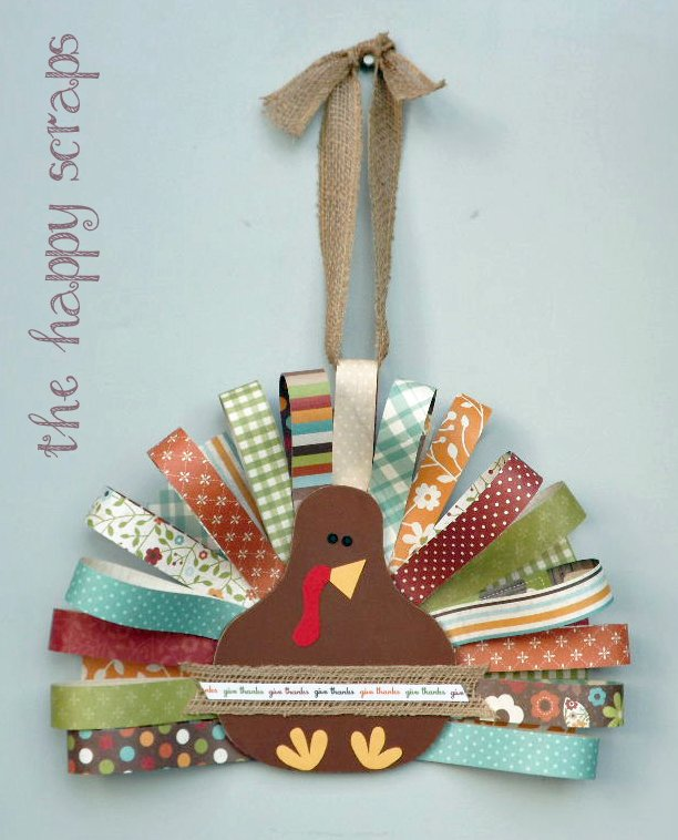 scrap paper turkey craft