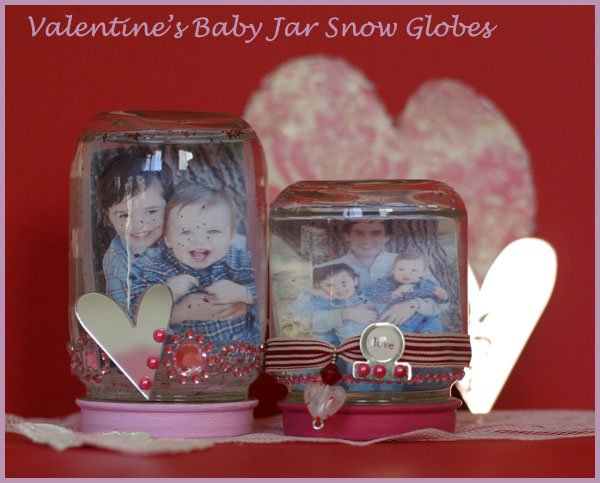Baby food jar snow globe