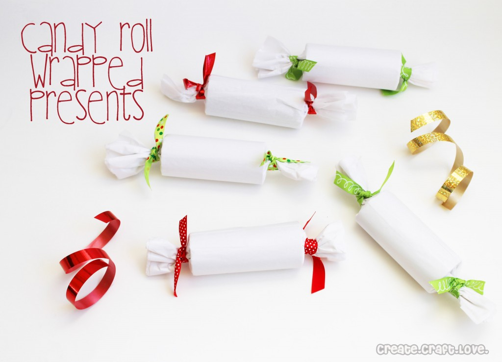 Candy Roll Wrapped Gifts via Create Craft Love