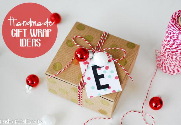 Christmas handmade wrapping kraft box 1