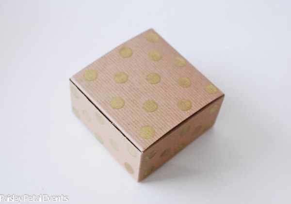 Christmas handmade wrapping polka dot box 1