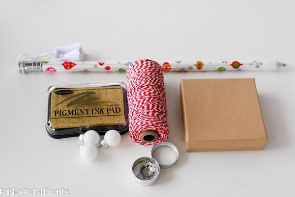 Handmade gift wrap supplies