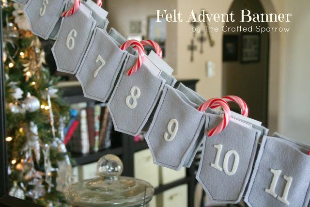 Felt Advent Calendar Banner The Crafted Sparrow