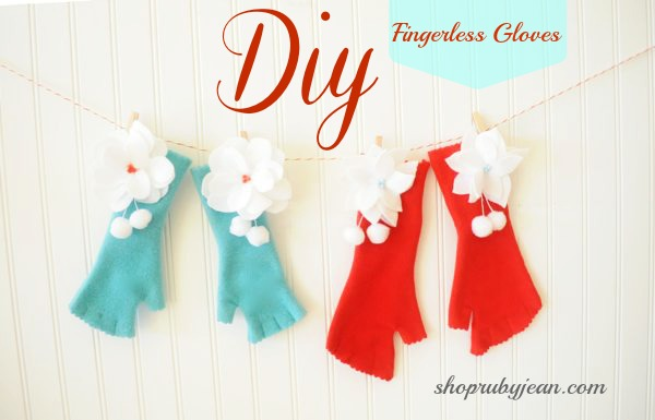 DIY Fingerless Gloves Ruby Jean