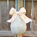 German-Glass-Glitter-Pear-Ornament via A Pumpkin and a Princess