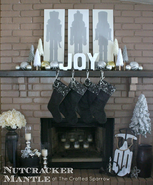 Nutcracker Mantel Crafted Sparrow