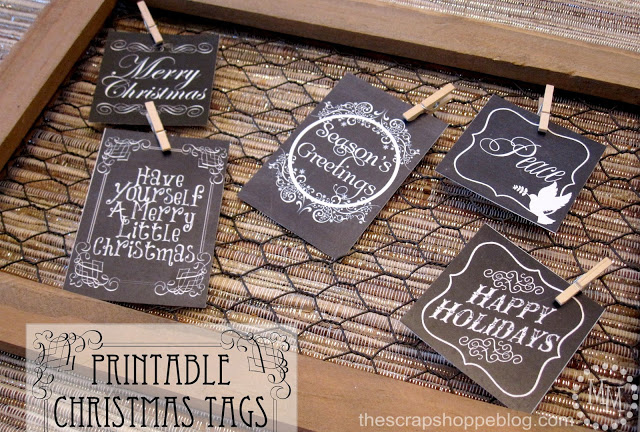 Printable Christmas Tags The Scrap Shoppe