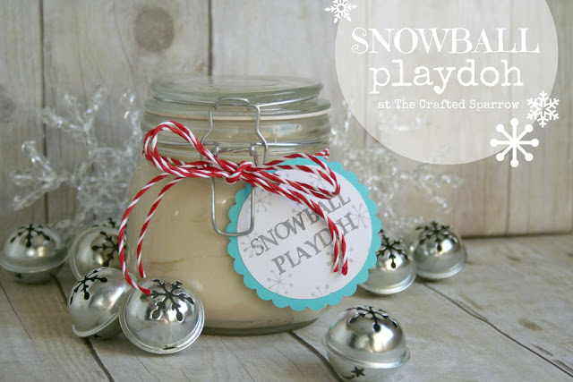 Snowball Playdough via The Crafted Sparrow